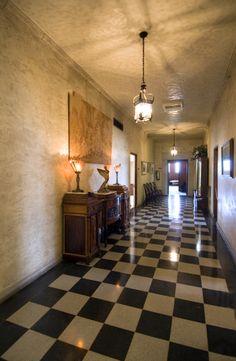 Marland Mansion upstairs hallway