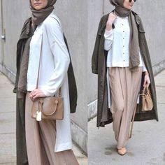pantalon palazzo palazzo pants hijab hijeb voile outfit inspiration tenue look style fashion mode muslima modest wear modest fashion hijabi boutique hijab