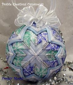 I would like to show off the beautiful work of one of my Etsy shop  customers, Darlene, from Prairie Creations Ornaments.  She makes these f...