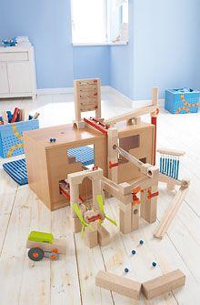 Inventori per bambini - Panca per costruzioni con casse pieghevoli - Labirinto a biglie - elementi aggiuntivi - Mattoncini + Labirinto a biglie - GIOCATTOLI & MOBILI