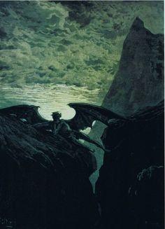 'Satan Resting On The Mountain', Gustav Dore (1832-1883).