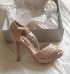 Holly Willoughby Majestic Lace Sandal Nude (BNIB)