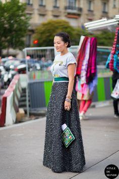Tina & that skirt. Paris. #TinaLeung