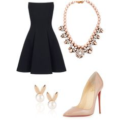A fashion look from January 2015 featuring Gareth Pugh dresses, Christian Louboutin pumps and Aamaya by priyanka earrings. Browse and shop related looks.