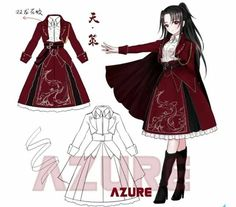 Cosplay Outfits, Anime Outfits, Girl Outfits, Cute Outfits, Fashion Outfits, Manga Clothes, Drawing Anime Clothes, Anime Dress, Dress Tutorials