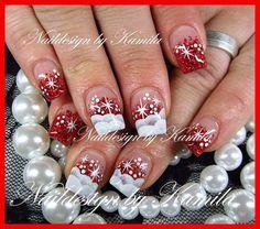 Christmas Nails - Naildesign by Kamila Xmas Nail Art, Holiday Nail Art, Xmas Nails, Winter Nail Art, Winter Nails, Christmas Nails, Fingernail Designs, Gel Nail Designs, Fancy Nails