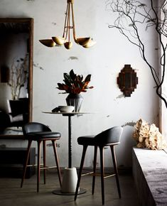 Inspired by the brutalist movement, this one-light, iron sconce is crafted out of hand cut geometric shapes, welded together into a tribal-like pattern.The wax finish helps keep the sconce natural – perfect for horizontal or vertical mounting. Light Crafts, Iron Wall, Geometric Shapes, End Tables, Home Furnishings, Bar Stools, Sconces, Wall Lights, Just For You