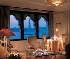 An opulent suite with a view of St. Mark's from our historic Palazzo Vendramin