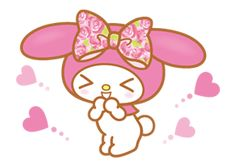 Sweet and adorable My Melody is back with a new set of stickers☆ She's really happy to be here among you lovely LINE users♪Let her add some cheer to your chats♪ My Melody Sanrio, Gal Pal, Line Sticker, Piano, Peeps, Hello Kitty, Twin, Stamps, Bunny
