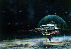 Science Fiction Illustrations by John Berkey - Sci-Fi Space Art Arte Sci Fi, Victor Vasarely, George Carlin, John Waters, Frank Frazetta, Robert Mcginnis, John John, Sci Fi Kunst, Illustrations