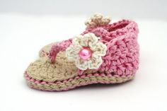Baby Sandals Crochet Baby Shoes Baby Girl por upinthefarawaytree
