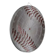 Abstract Baseball Stitches Dart Board  sc 1 st  Pinterest : baseball paper plates - pezcame.com