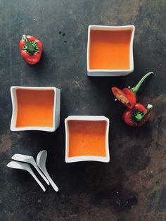 soep van geroosterde paprika en ras-el-hanout