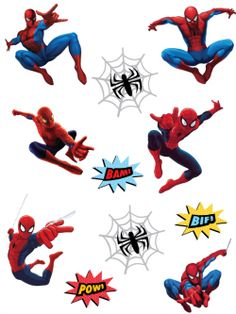 Free Printable Spiderman Stickers