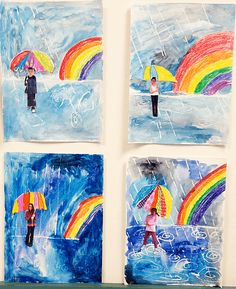 The Prettiest Spring Art for Kids to Make Beautiful spring art from my elementary school. Lots of inspiration for you! 7 beautiful spring art projects your kids can easily make. Classroom Art Projects, School Art Projects, Art Classroom, Kindergarten Art, Preschool Art, Weather Kindergarten, Kindergarten Pictures, Art 2nd Grade, Second Grade