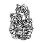Roses and Skull Tattoo Design. You dream it, we draw it. Get started on your custom tattoo design today! :)