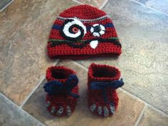 monster hat and booties