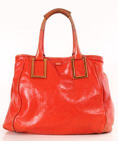 orange Chloe satchel