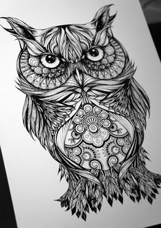 Gregor the Owl by Greg Coulton, via Behance. I can definitely see this as a tattoo