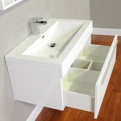 "ALYA-AT-8090-W 36"" Single Modern Bathroom Vanity 