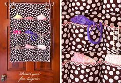Pattern for over-the-door shoe caddy. Will make a smaller version for a bathroom cabinet door.