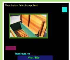 Plans Outdoor Cedar Storage Bench 162755 - The Best Image Search