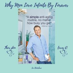 Why wouldn't men love Infinite By Forever when it cares so comprehensively for their skin? Click the Slideshare link and you'll soon get the picture! #love #aloeskincare #naturalskincare