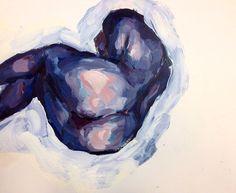 Elly Smallwood - Self Portrait (Blue) (2016)