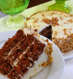 Triple-Layered Spiced Apple Carrot Cake with Goat Cheese Frosting from Noble Pig