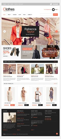 Clothes Online Jigoshop Themes by Mercury