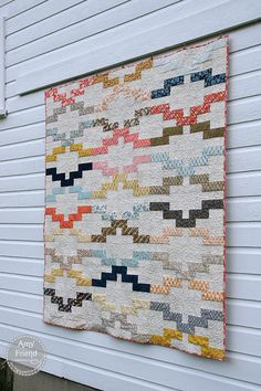 Jelly roll quilt by Amy Friend of During Quiet Time