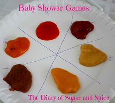 """Fun baby shower games! """"Name that Baby food"""" was hysterical! The faces people made during the """"tasting"""" were priceless. From the Diary of Sugar and Spice"""