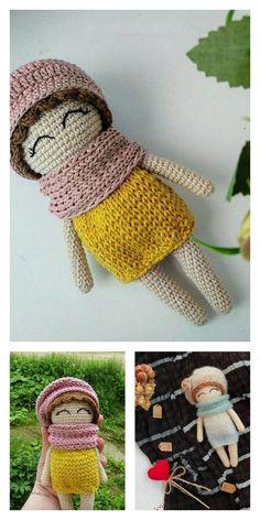 Amigurumi Pink Little Layd Free Pattern – Amigurumi Free Patterns And Tutorials Amigurumi Patterns, Amigurumi Doll, Free Crochet, Crochet Hats, 4 Ply Yarn, Hair Cover, Mohair Yarn, Hello Dear, Tricot