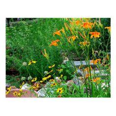 Flower Garden Path Photograph Postcard