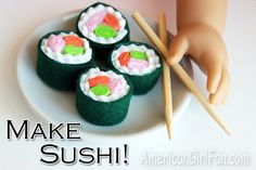 How to make sushi for dolls! (Click through for tutorial)