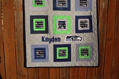 Baby Seattle Seahawks Quilt for Kayden | Flickr - Photo Sharing!