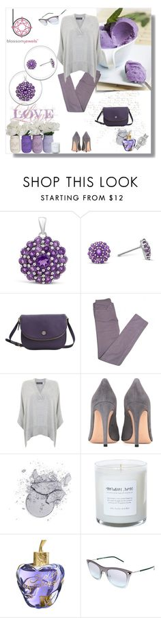 """""""Amethyst"""" by murenochek ❤ liked on Polyvore featuring Tory Burch, Zadig & Voltaire, Mint Velvet, Gianvito Rossi, Lolita Lempicka, Marc Jacobs, Rolex, grey and Blossomjewels"""