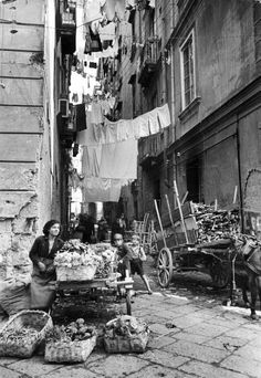 Day to day life in the past...how challenging it was. Italy 1947.