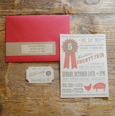 Country Fair Invite.  You could make pretty awesome wedding invites like these.  If you wanted to have a country fair themed wedding.  Just saying.