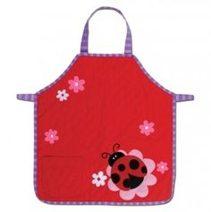 Cute little girls ladybug apron!