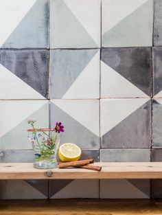 Superbe Subtle Imperfections: Screen Printed Ceramic Tiles From A Small Batch  London Company: Remodelista