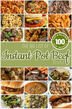 The big list of Instant Pot beef recipes. This list offers over 100 recipes for making beef in your Instant Pot. From Valerie @ One Happy Housewife – onehappyhousewife… recover deleted photos android 2020 Beef Recipe Instant Pot, Instant Pot Dinner Recipes, Healthy Beef Recipes, Top Recipes, Lunch Recipes, Healthy Sauces, Fast Recipes, Crockpot Recipes, Potted Beef Recipe