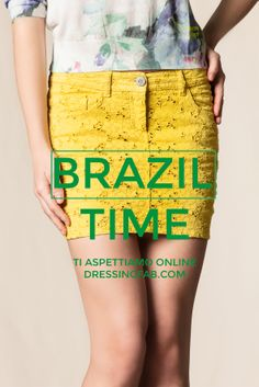 Brazil Time #Brazil #scervinostreet #skirt #yellow