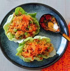 Fresh and healthy lettuce wraps... so delicious! www.foodtasticmom.com