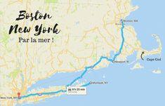 Boston-New York se fait en train, en bus ou en avion, mais peut aussi faire l'objet de road trips originaux et super sympas à travers la Nouvelle Angleterre.