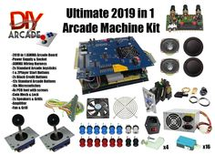 Kit comes with nearly everything you need to build your own Arcade Machine, Just add Arcade Cabinet and Screen. For the screen a old computer monitor is just fine. the 2019 can be setup in 4 player mode!!!