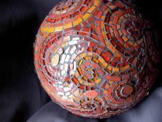 Mosaic Gazing Ball Detail    Margaret Almon Mosaics