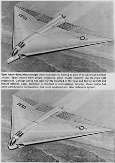 Flying Wings, early concepts, circa 1950's.