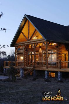 Log Home By, Golden Eagle Log Homes - Exterior Lakeside (View 5)