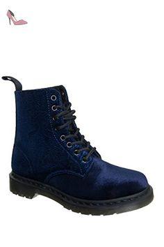 Dr. Martens Pascal Velvet, Bottes pour Femme - bleu - bleu foncé, EU 37 (UK 4) EU - Chaussures dr martens (*Partner-Link)